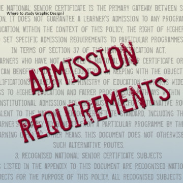 Study Graphic Design: Admission Requirements