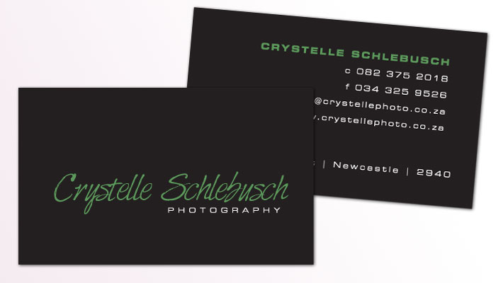 Crystelle Schlebusch Photography Business Card