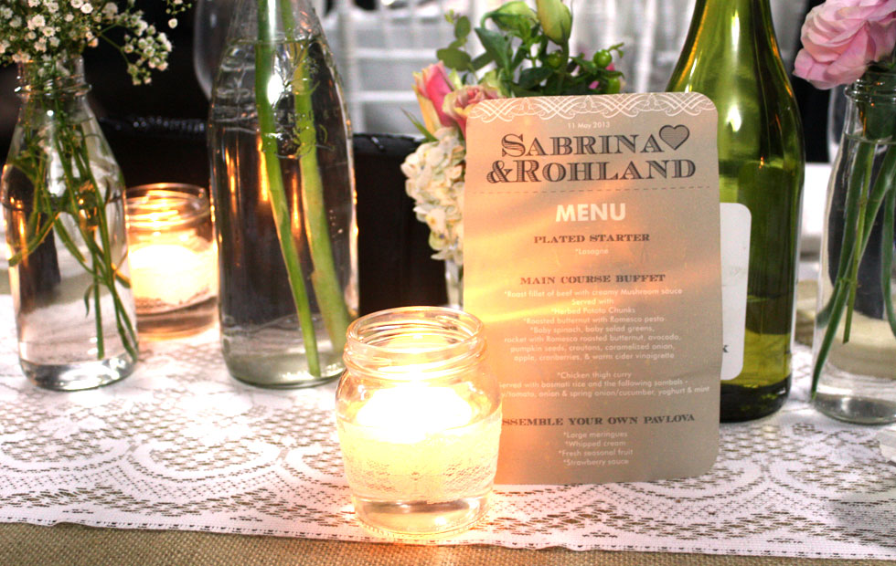 Sabrina+Rohland Menu