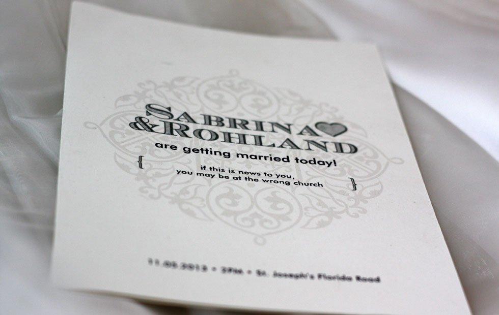 Sabrina+Rohland Order of Service